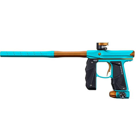 Empire Paintball Mini GS Marker w/ 2 Piece Barrel - Dust Aqua / Orange