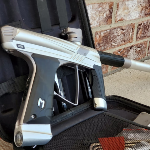 Used MacDev Prime Paintball Marker - Silver / Grey