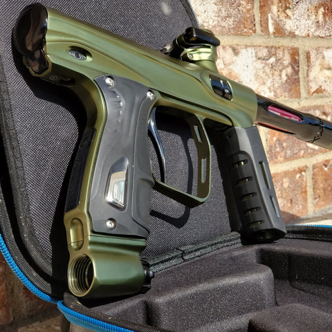 Used Shocker XLS Paintball Gun - Olive