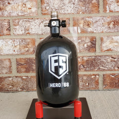 Used First Strike 68/4500 Paintball Tank w/ FS Hero Adjustable Regulator