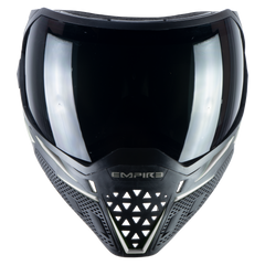 Empire EVS Paintball Mask - Black/White (Thermal Smoke & Clear Lens)