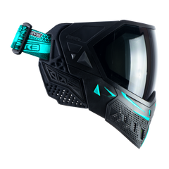 Empire EVS Paintball Mask - Black/Aqua (Thermal Smoke & Clear Lens)