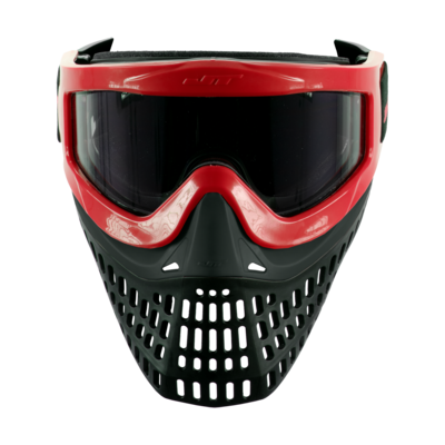 JT Proflex X Thermal Paintball Mask - Red Frame and Strap w/ Quick Change System