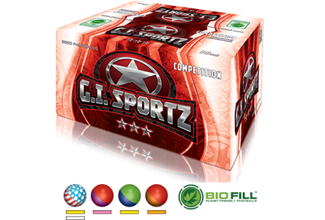 GI Sportz 3 Star Paintballs - Case of 2000