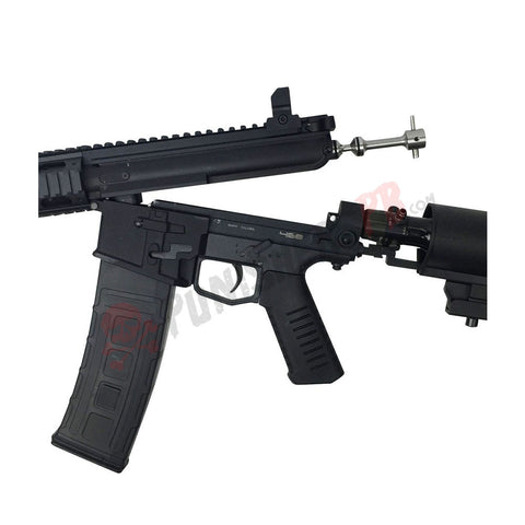 468 RIS Tactical Paintball Gun With Solid Remote Line Adapter