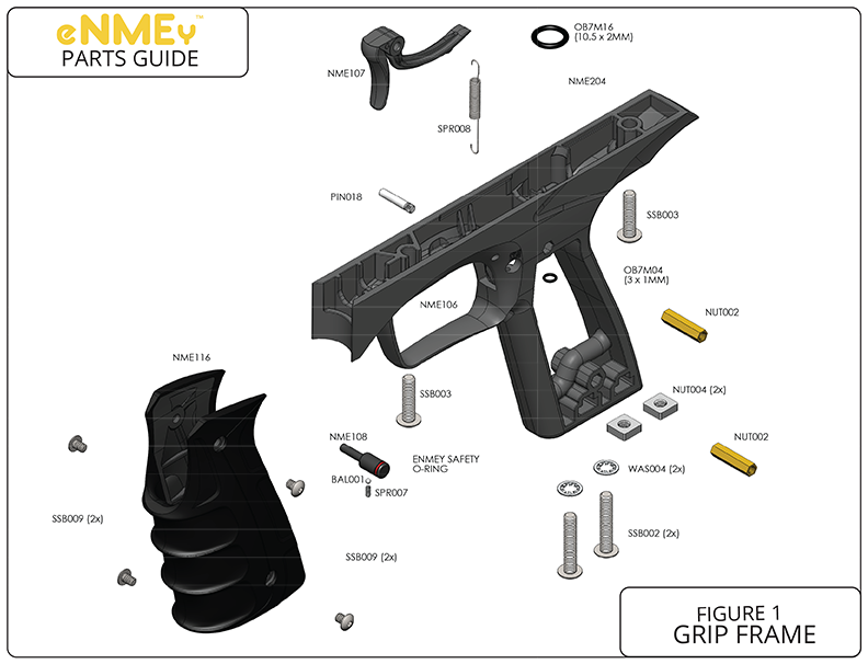 Marvelous Gog Enmey Grip Frame Complete Replacement Part List Pick The Part You Wiring Digital Resources Instshebarightsorg