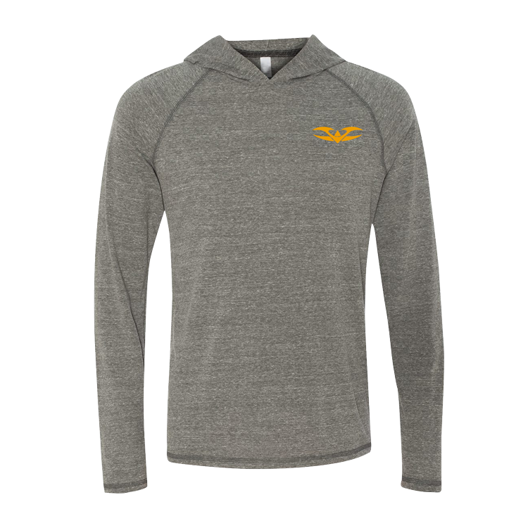 Hoody - Vathletic Lightweight - Gray/Orange - Punishers Paintball
