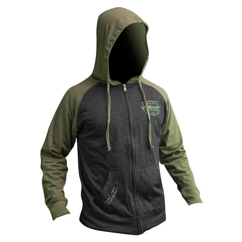 Hoody - V Tactical Stamp Zip - Charcoal/Army
