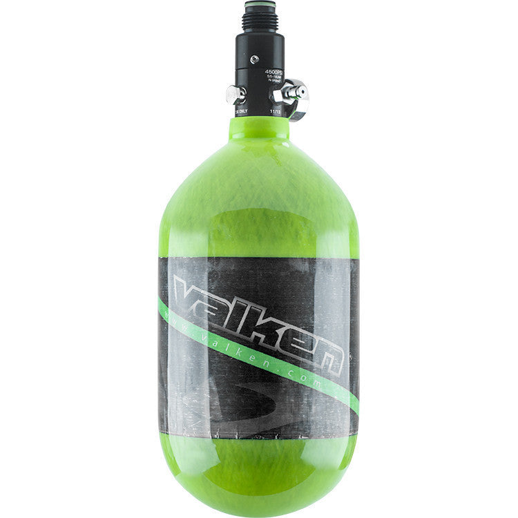 Tank - Valken Air 68/4500 Carbon Fiber - Green Stripe