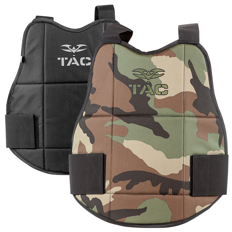 Chest Protector - V-TAC Reversible - Woodland/Black - Punishers Paintball