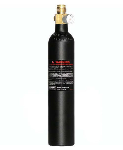 7oz CO2 Cylinder with On/Off Valve (Empty) - Punishers Paintball