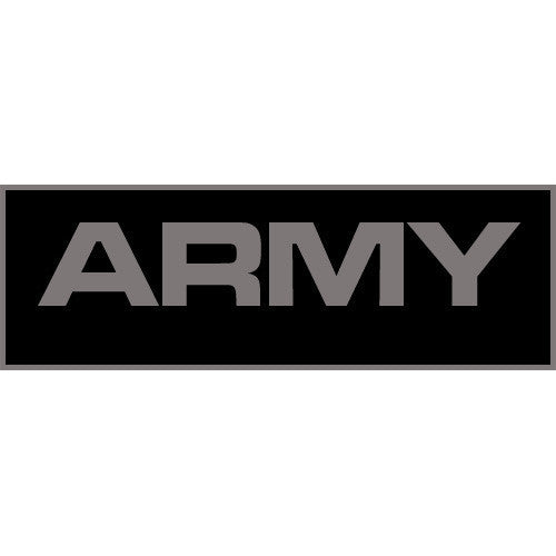 Army Patch Large (Black) - Punishers Paintball