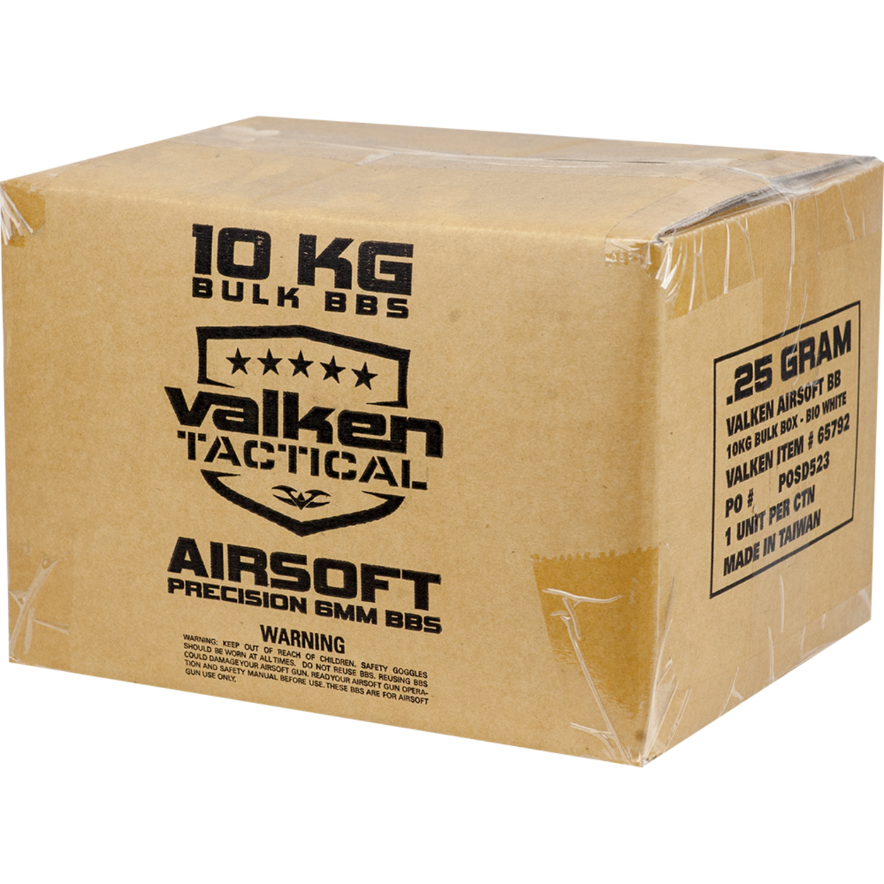 Valken Tactical 0.20g NON BIO Precision BB's 10kg Bulk Box - White