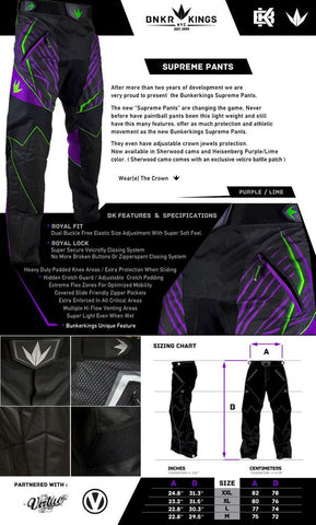 BNKR Bunker Kings Supreme Paintball Pants - Heisenberg