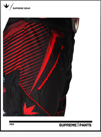 BNKR Bunker Kings Supreme Paintball Pants - Red