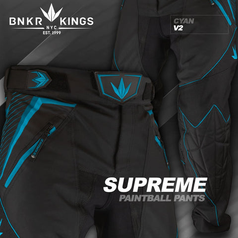 Bunker Kings V2 Supreme Paintball Pants - Cyan