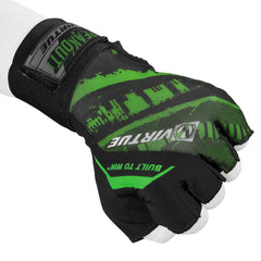 Virtue Mesh Breakout Gloves - Half Finger - Graphic Green