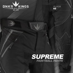 BNKR Bunker Kings V2 Supreme Paintball Pants - Black