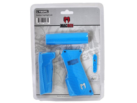 MacDev Cyborg 6 Rubber Grip Set - Aqua