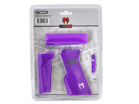 MacDev Cyborg 6 Rubber Grip Set - Purple