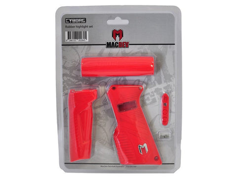 MacDev Cyborg 6 Rubber Grip Set - Red