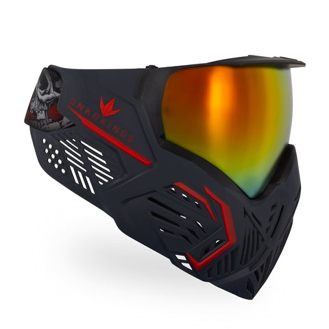 BunkerKings CMD Paintball Mask - Black Demon
