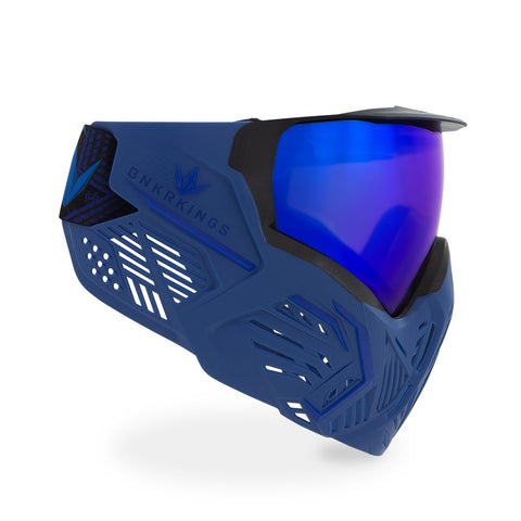 BunkerKings CMD Paintball Mask - Blue Azure