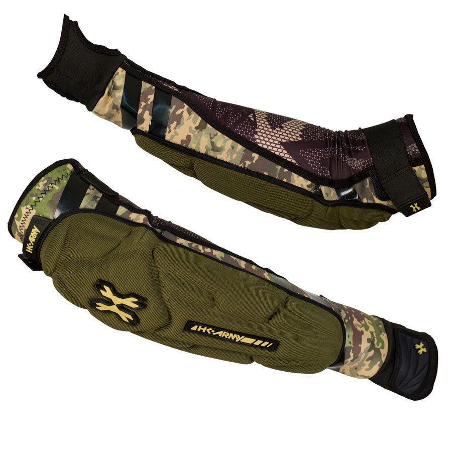 Camo Crash Arm Pads - Punishers Paintball
