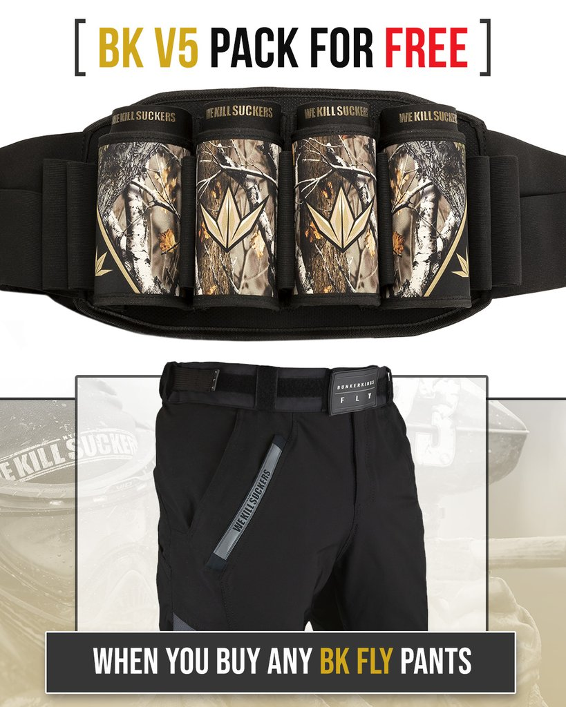 Buy BunkerKings Fly Pants and get BunkerKings V5 Pod Pack Free