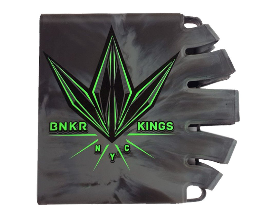 BNKR Bunker Kings Knuckle Butt Paintball Tank Cover - Crown Lime
