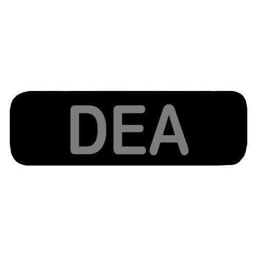 DEA Patch with round corners Large (Black) - Punishers Paintball