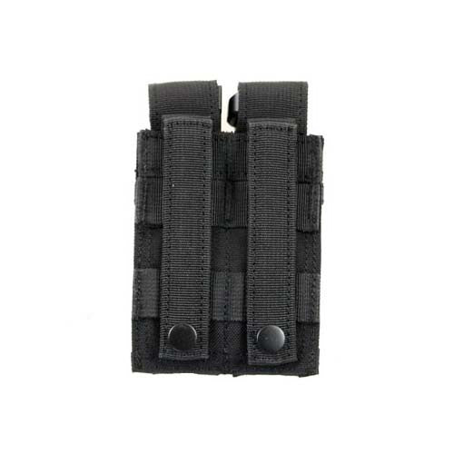 BLACK Double Sidearm Magazine Pouch - Punishers Paintball