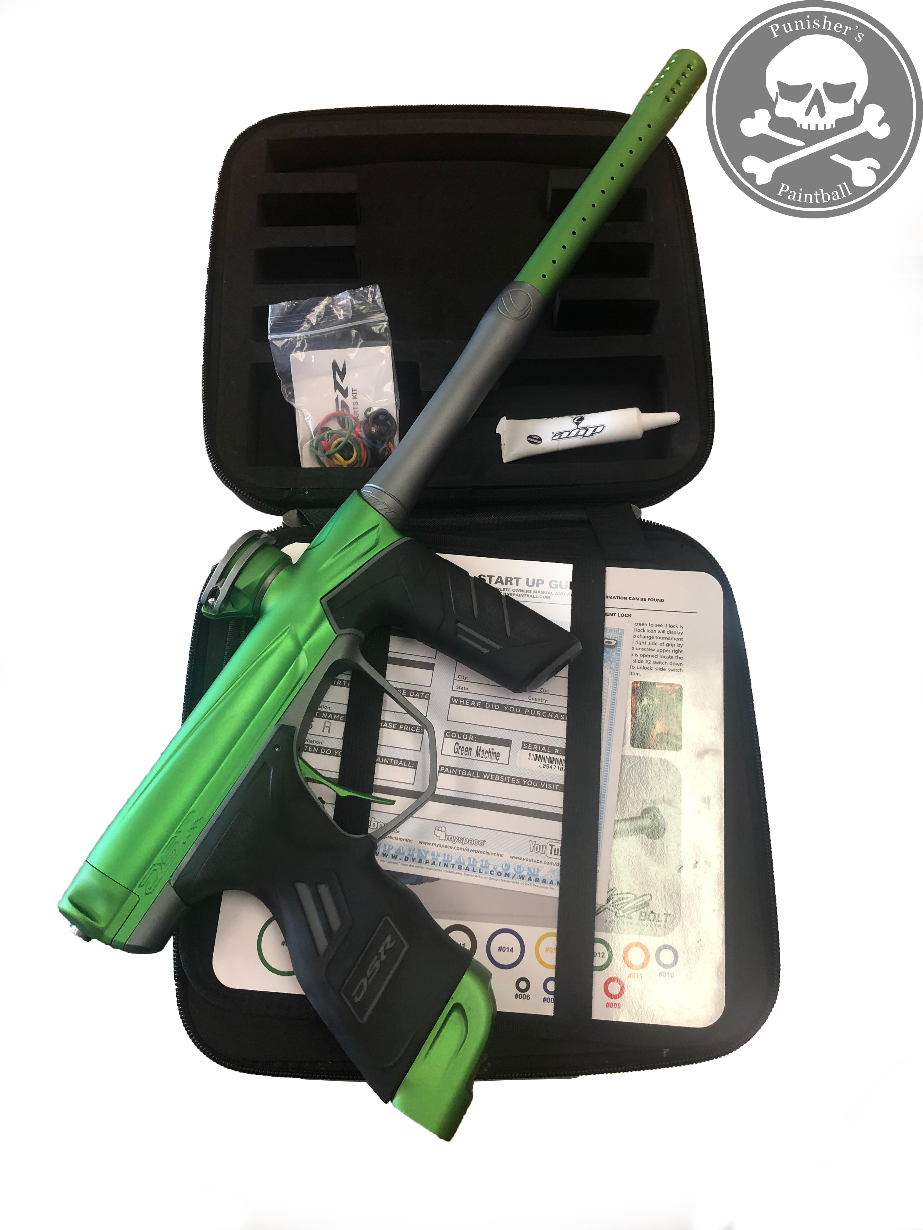 Used Dye DSR Paintball Marker - Green