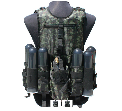 Gen X Global Deluxe Tactical Vest - Digi Green