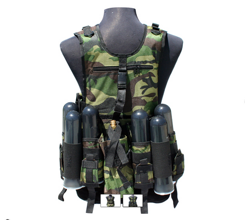 Gen X Global Deluxe Tactical Vest - Woodland Camo
