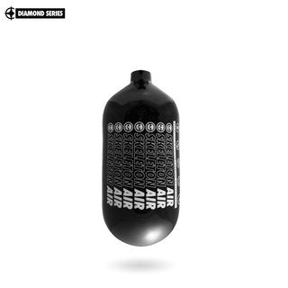 "Infamous Skeleton Air ""Hyperlight"" Paintball Tank BOTTLE ONLY - Diamond Series - Black / White - Echo - 80/4500 PSI"
