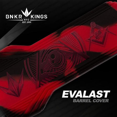 Evalast Paintball Barrel Cover - Conspiracy Red