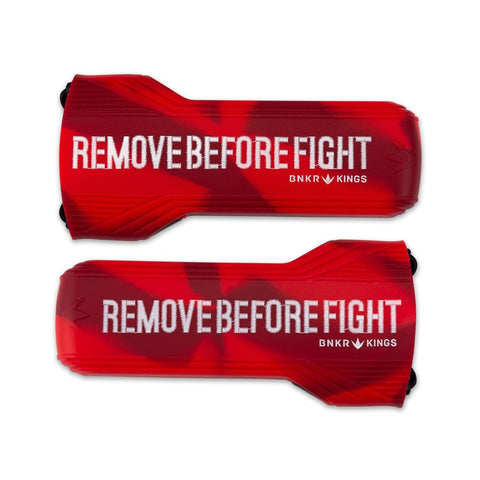 Evalast Paintball Barrel Cover - Remove Before Fight Red