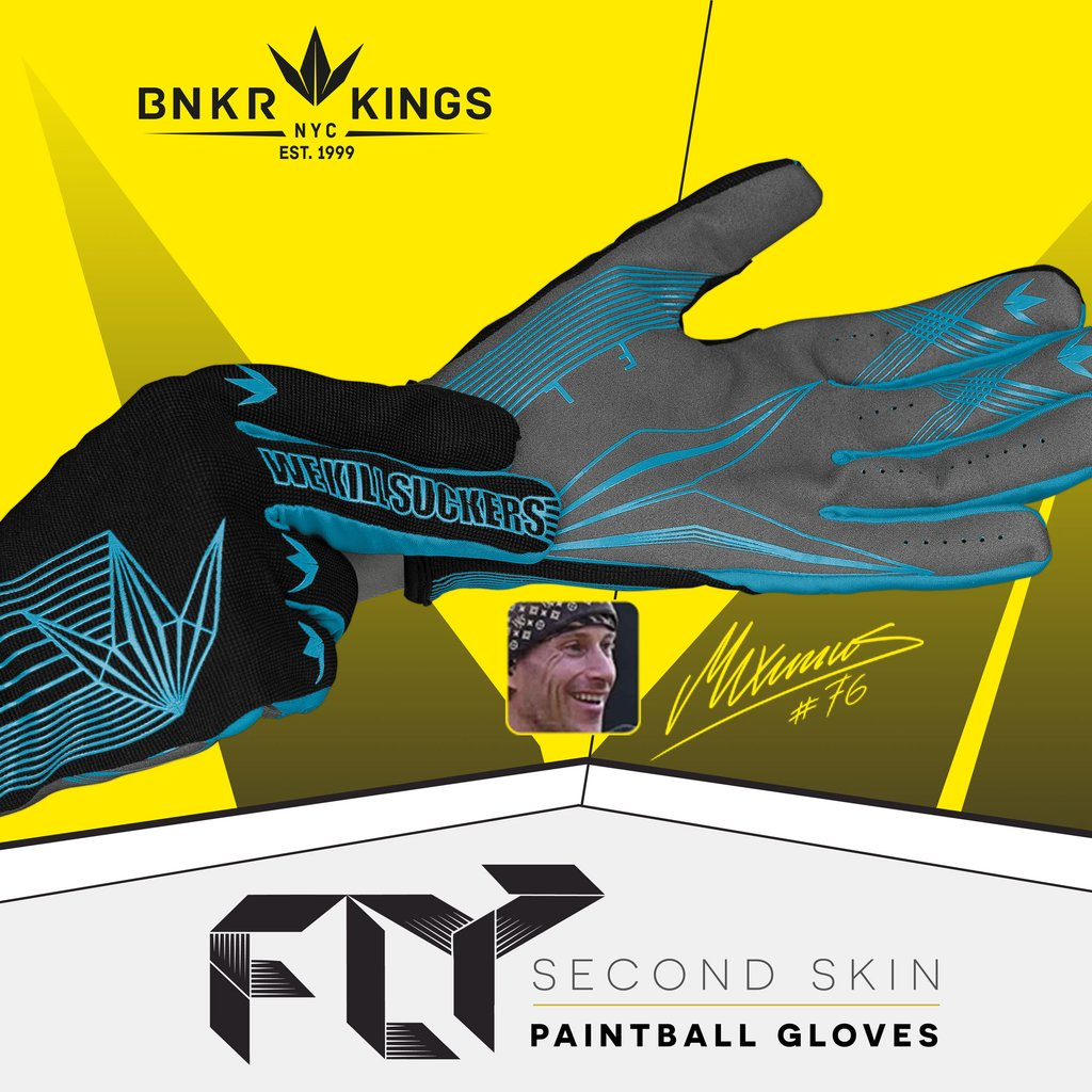 Fly Paintball Gloves - Cyan