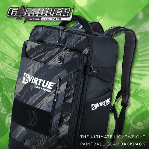 Virtue Gambler Backpack & Paintball Gearbag - Graphic Black
