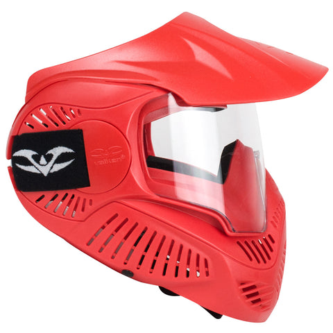 Valken Paintball MI-3 Gotcha Goggle/Mask with Single Lens & Top Strap- Red
