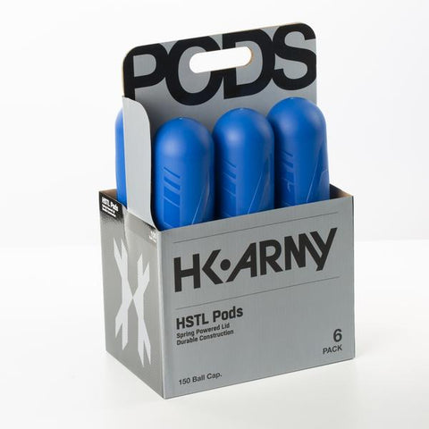 HK Army HSLT Paintball Pods- Blue (150 Round) - 6 Pack