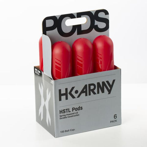 HK Army HSTL Paintball Pods- Red (150 Round) - 6 Pack