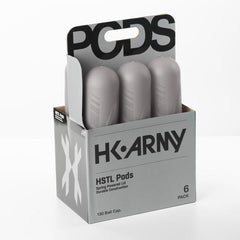 HK Army HSTL Pods- High Capacity 150 Round- Smoke/Black- 6 Pack
