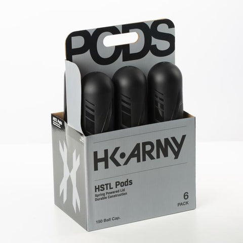 HK Army HSTL Paintball Pods - Black (150 Round) - 6 Pack