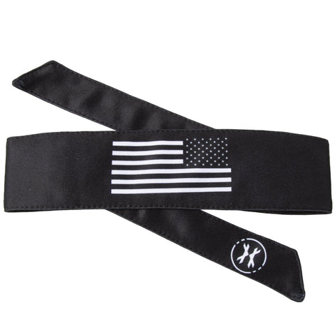 USA Flag Black/White Headband