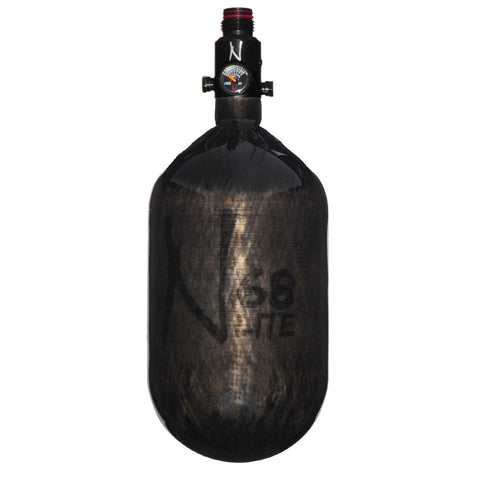 Ninja Carbon Fiber Lite 68/4500 Paintball Tank - Translucent Black - Pro V2 Reg