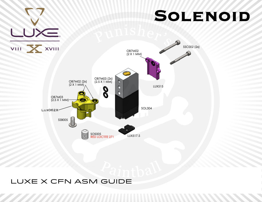 DLX Luxe X Solenoid System Parts Picker - Pick the Part You Need!