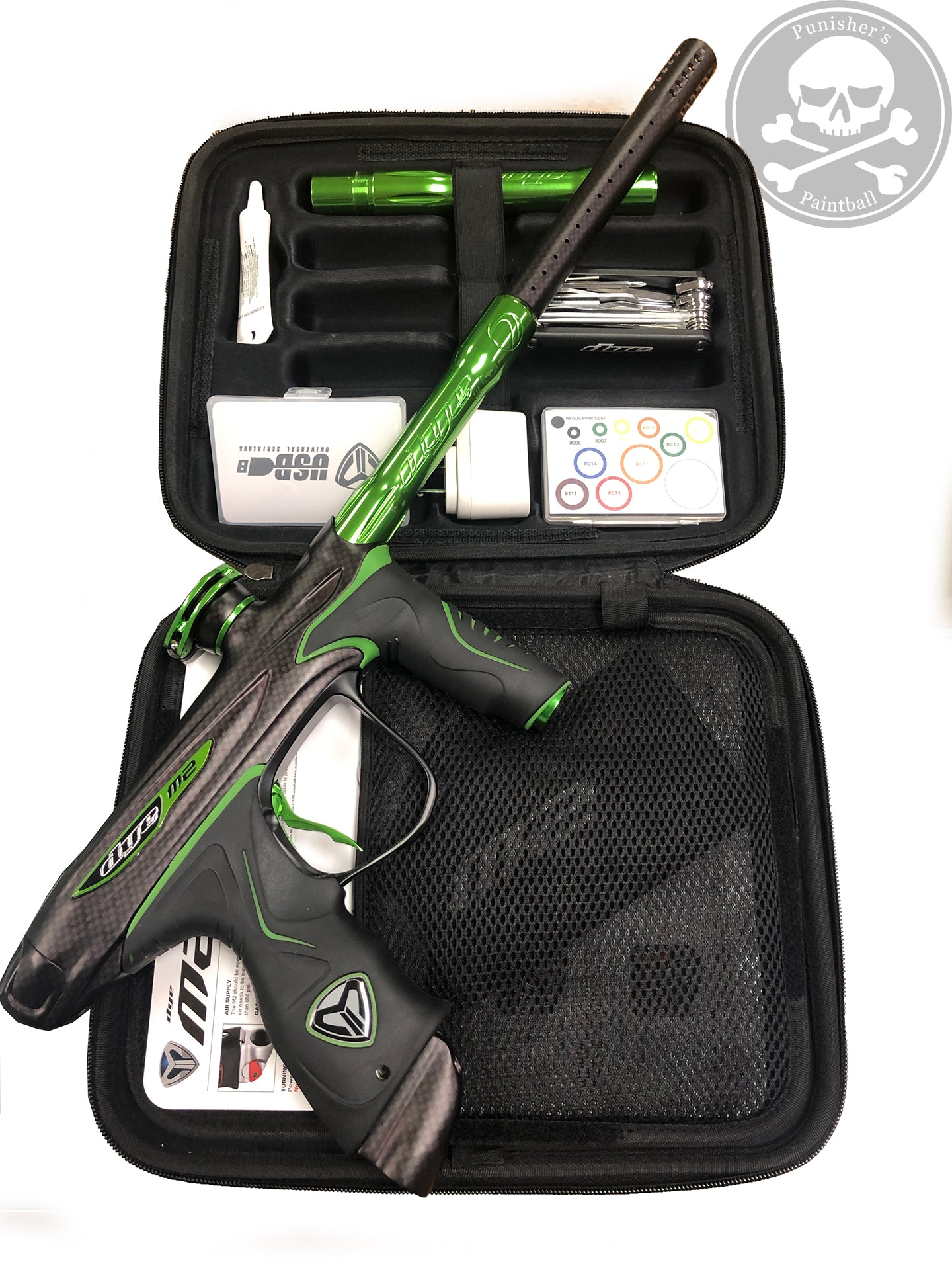 Used Dye M2 MOSAir Paintball Gun - PGA DyeCam Black/Lime