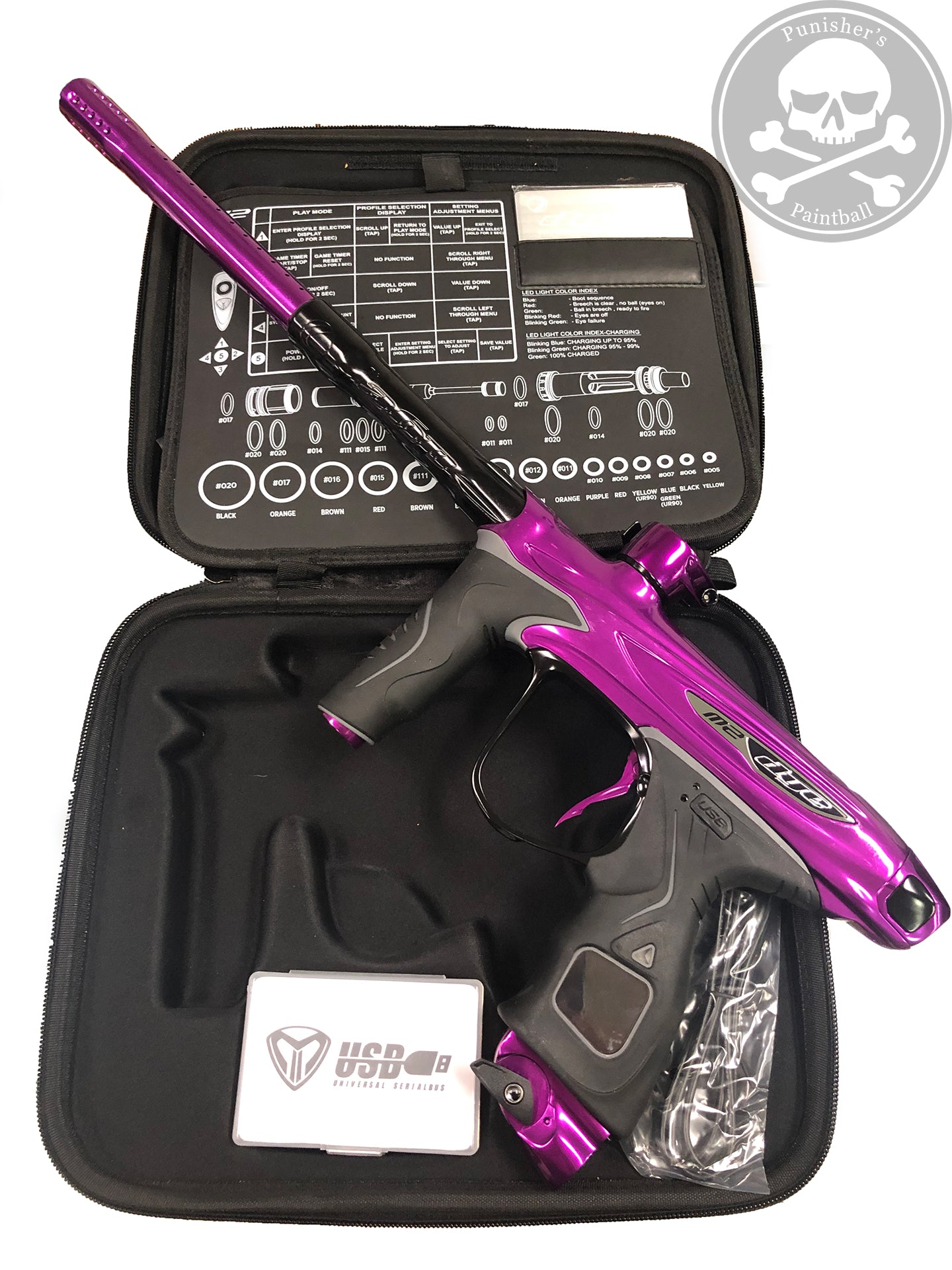 Used Dye M2 MOSAir Paintball Gun - Purple